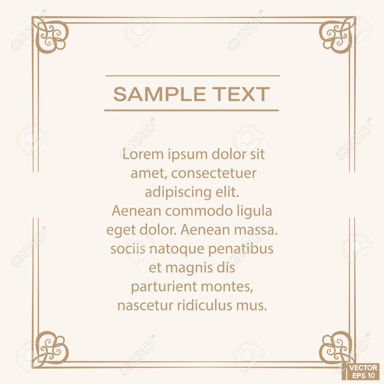 Vector image. Vintage baroque frame. Acanthus foliage swirl decorative design element. Scroll ornament engraving border floral. retro pattern antique style. - 136526845