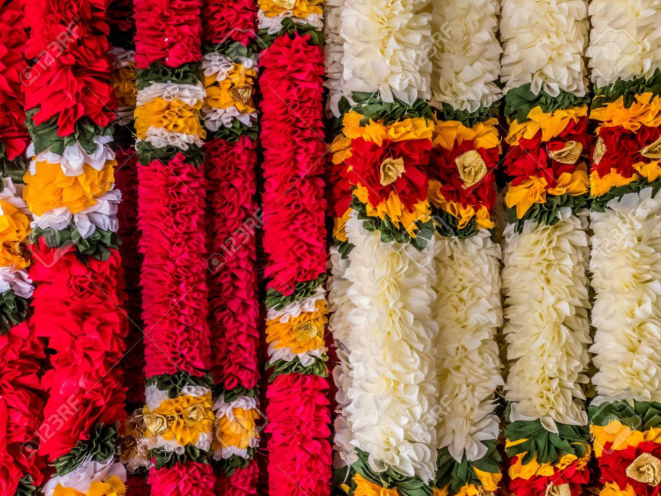 India Garland For Worship Hindu God. Stock Photo, Picture And Royalty Free  Image. Image 70005975.