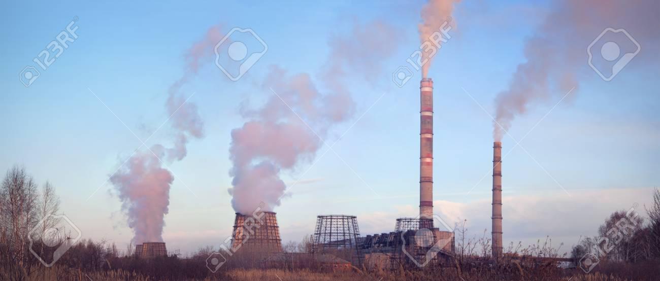 Power station at dusk Stock Photo - 9052262