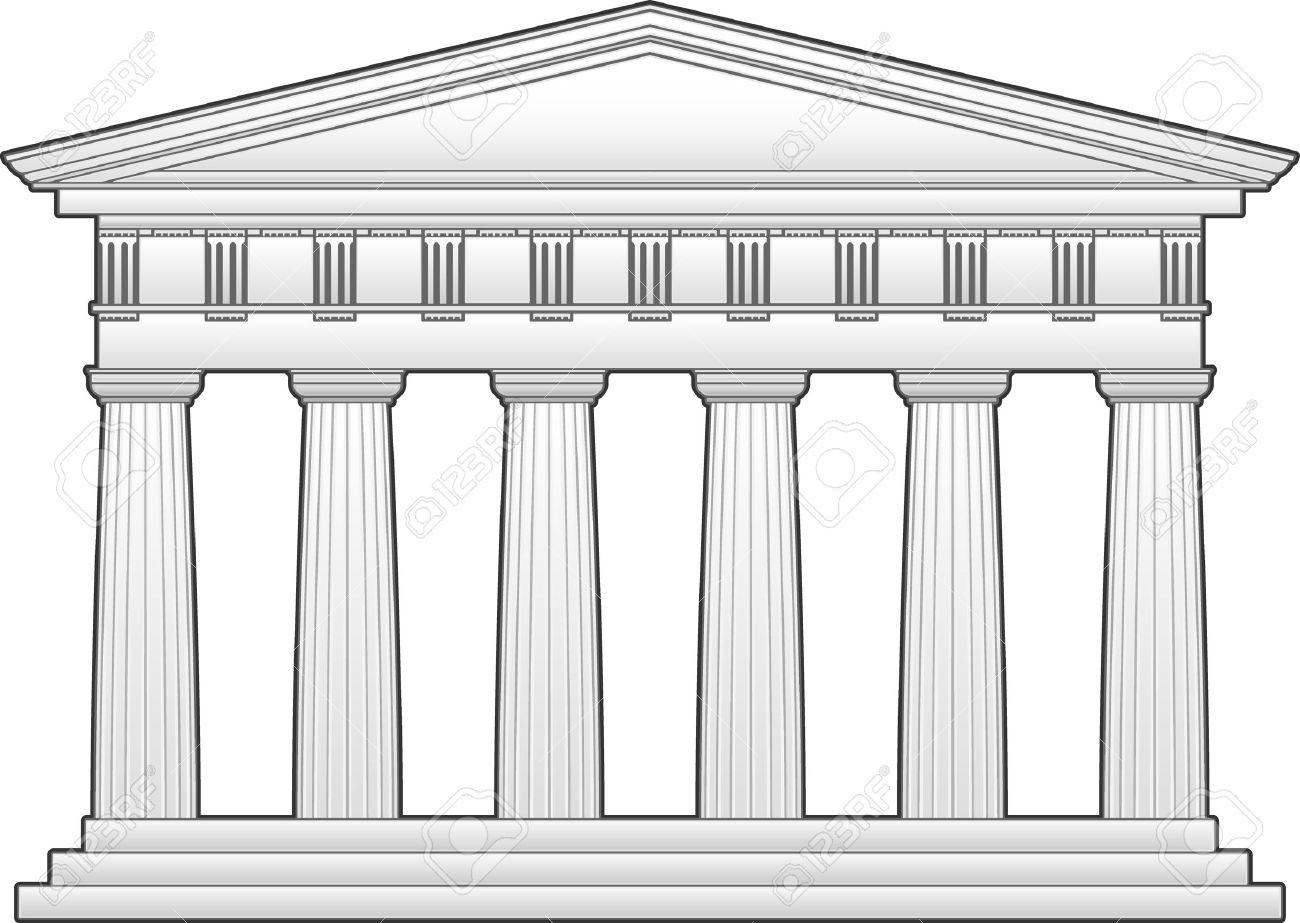 Greek temple  doric order  Greek Architecture Clipart