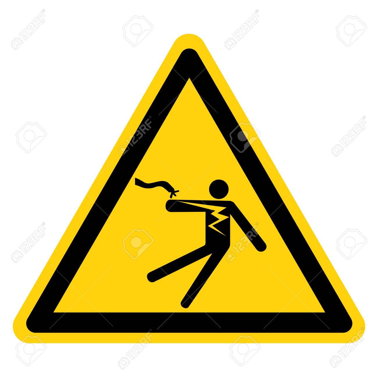 Electrical Shock Electrocution Symbol Sign, Vector Illustration, Isolate On White Background Label .EPS10 - 122254491