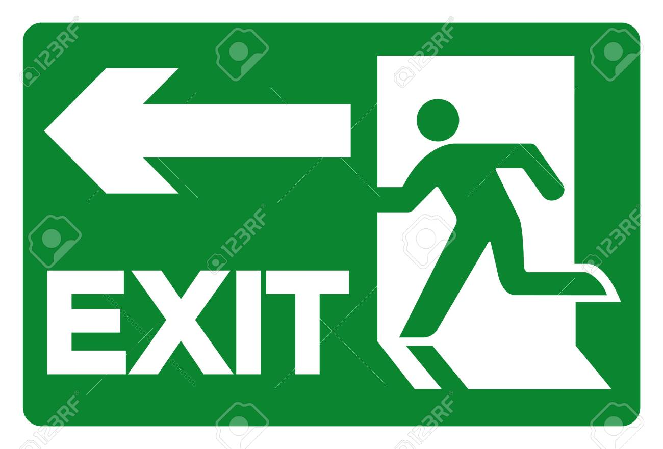 Exit Symbol Sign, Vector Illustration, Isolate On White Background Label. EPS10 - 135338687