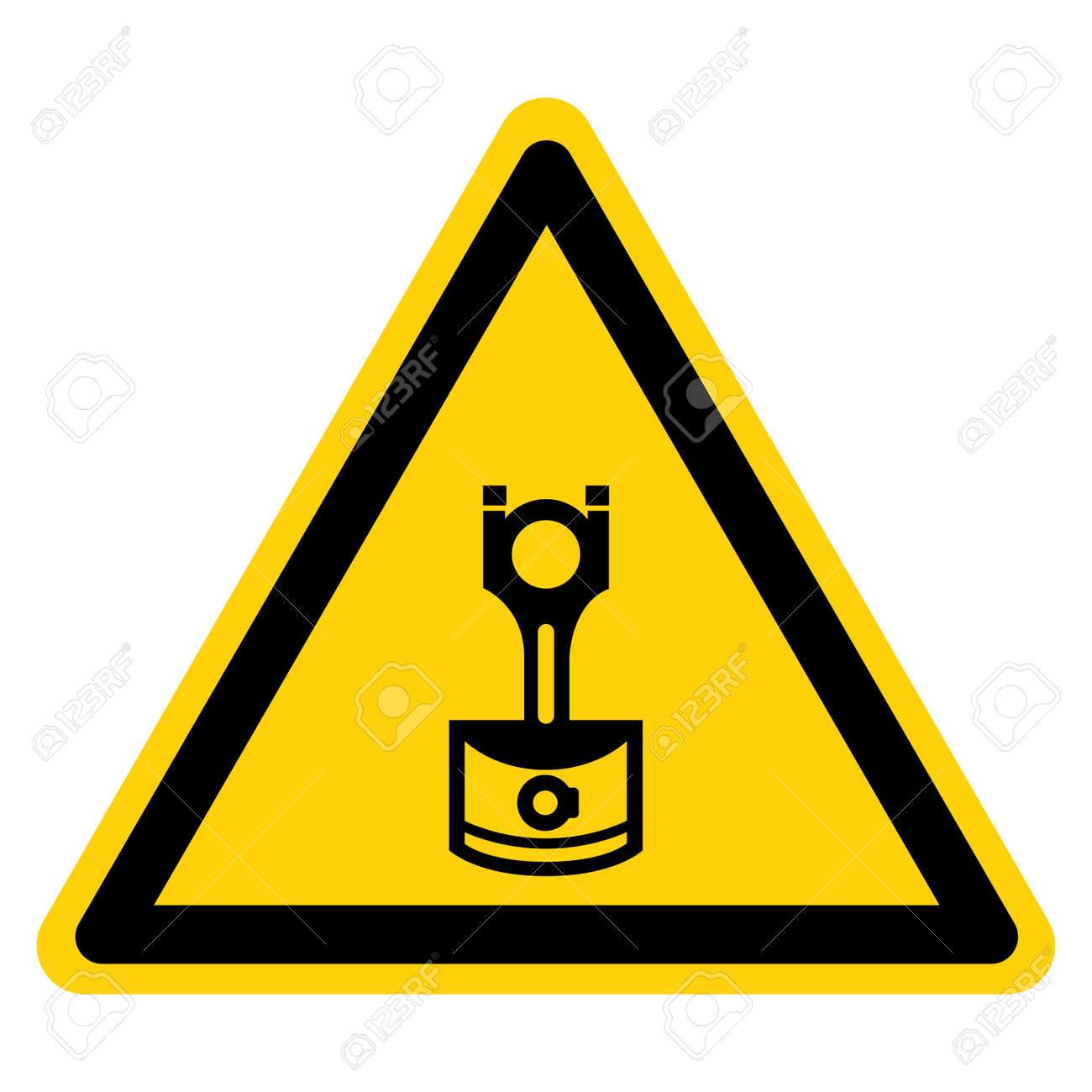 Machine Piston Symbol Sign, Vector Illustration, Isolate On White Background Label. EPS10 - 164155547