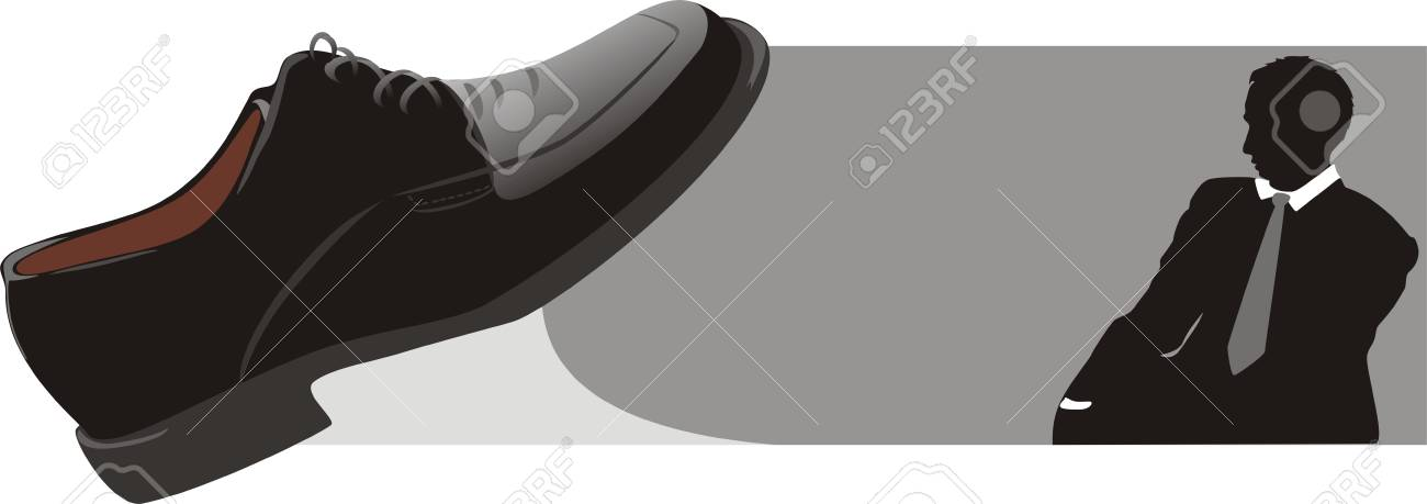 Modern classic shoes for businessman. Vector Stock Vector - 5043285