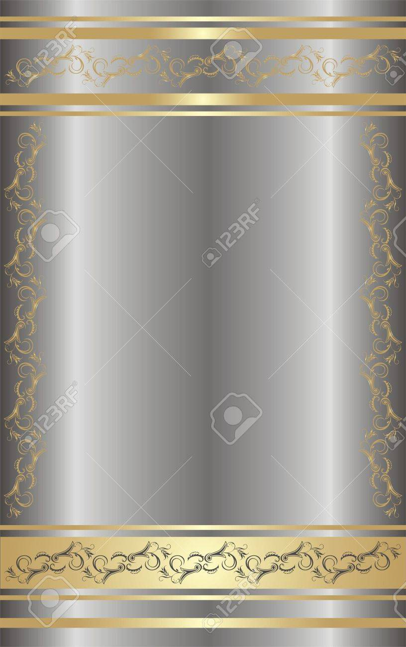 Ornament for card. Background. Stock Vector - 5788130