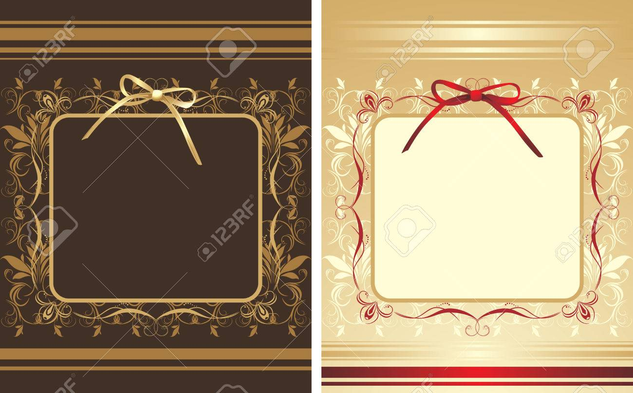 Decorative backgrounds with frames and bows Stock Vector - 8205159