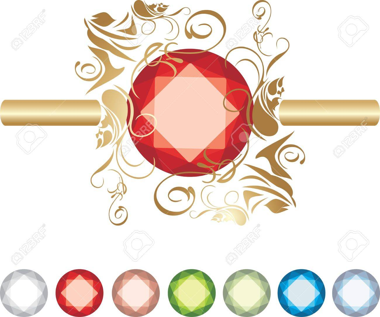 Collection of jewels Stock Vector - 9628748