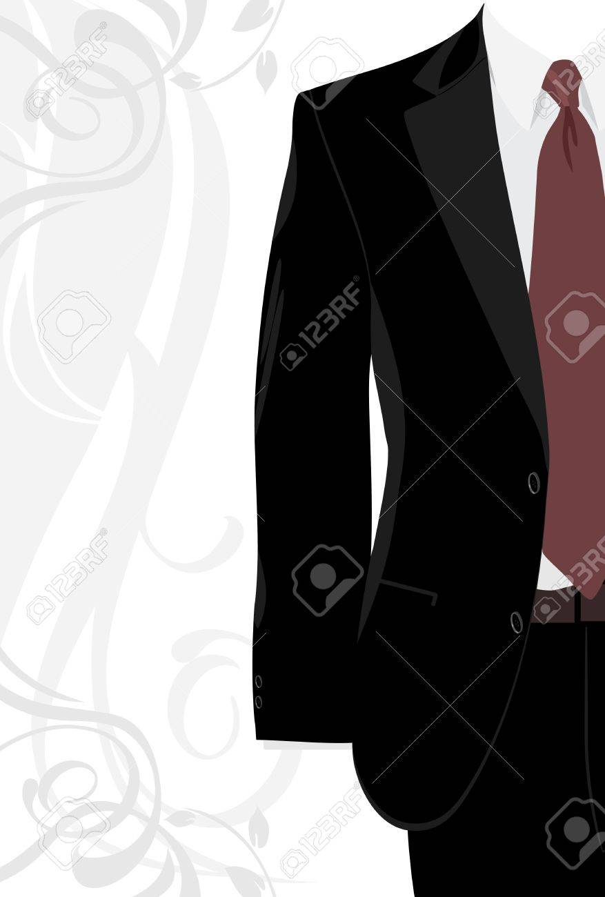 Masculine suit on the decorative background - 9719833
