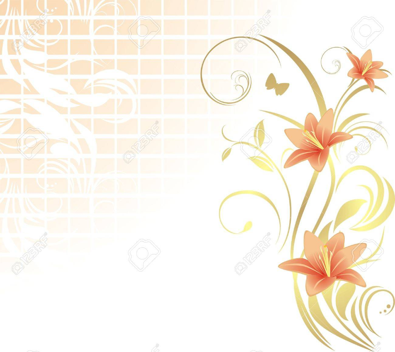 28253 lily flower cliparts stock vector and royalty free lily lily flower frame with lilies pattern for design illustration dhlflorist Images