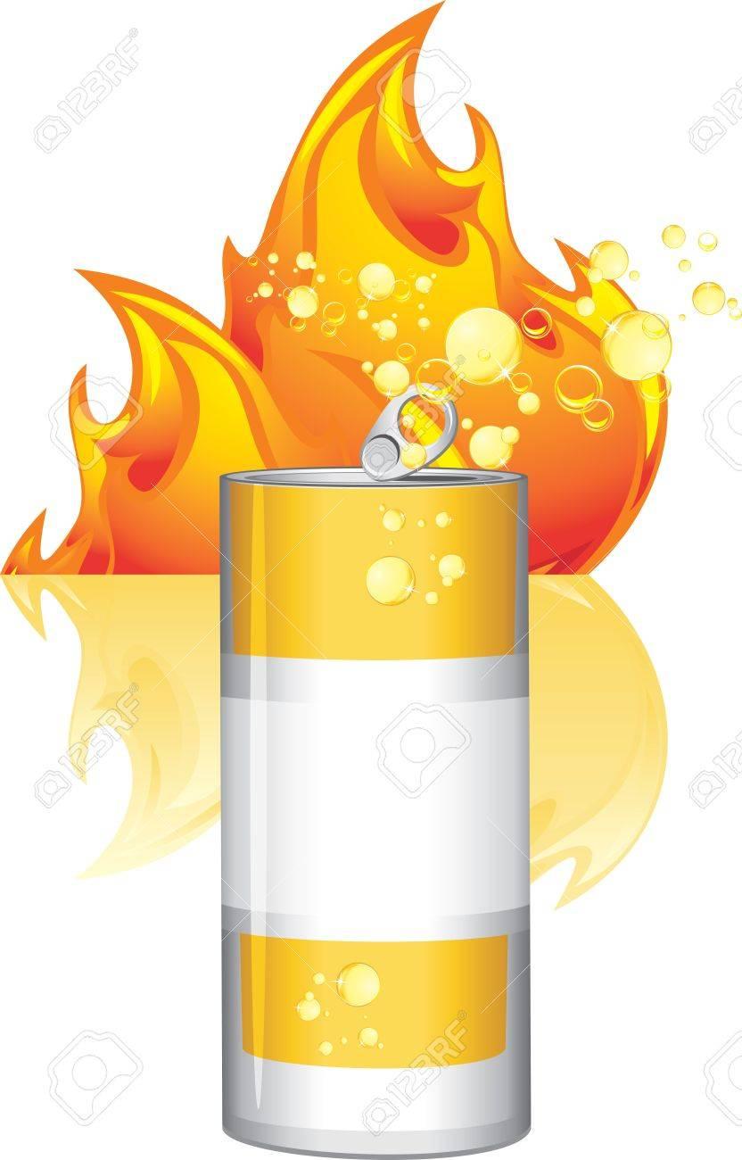 Burn energy drink Stock Vector - 15486902