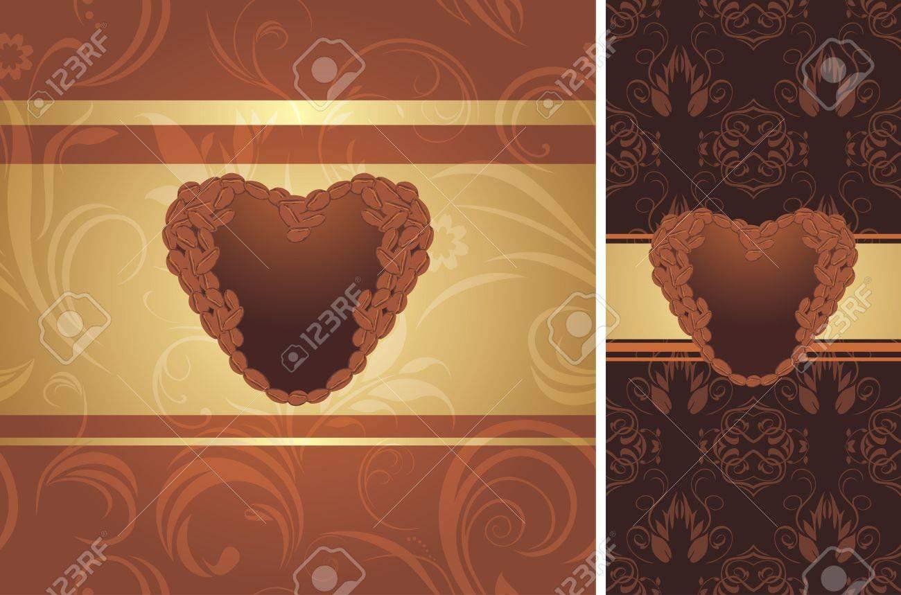Ornamental coffee background Stock Vector - 17292345