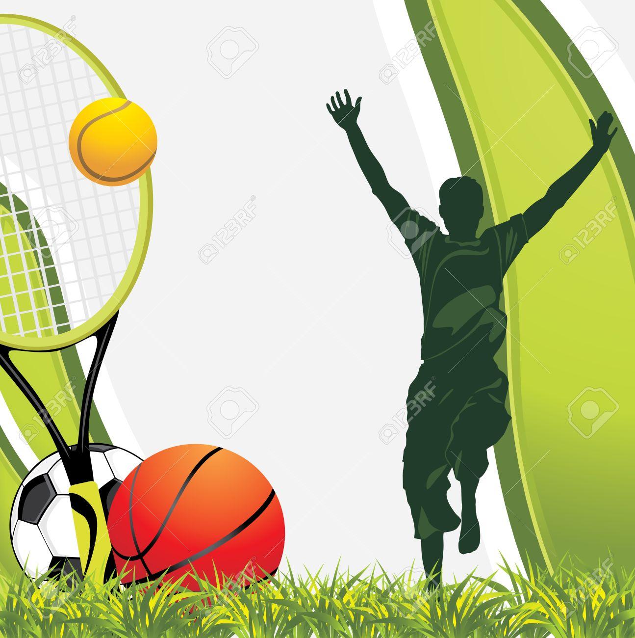 Sporting balls. Recreation background Stock Vector - 17853624