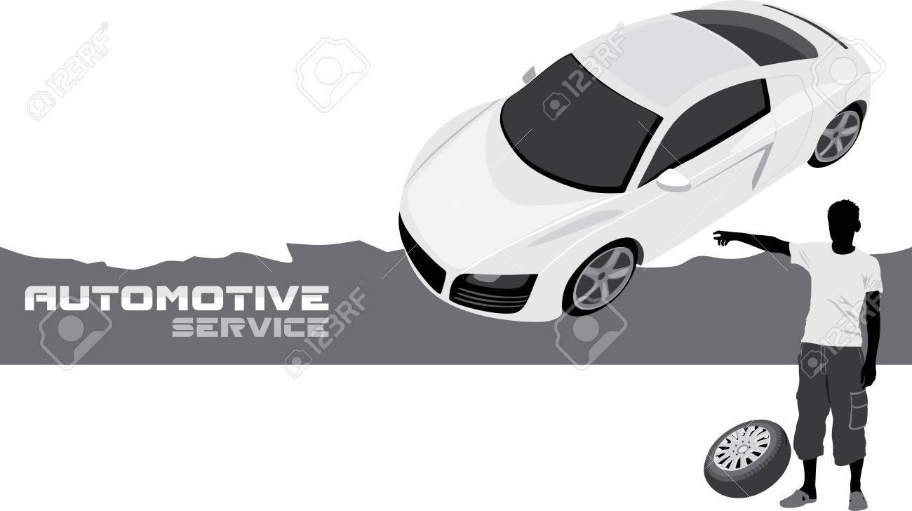 Automotive service  Banner for design Stock Vector - 20554606