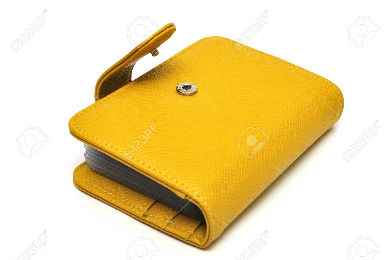 leather cards holder on a white background Stock Photo - 11080488