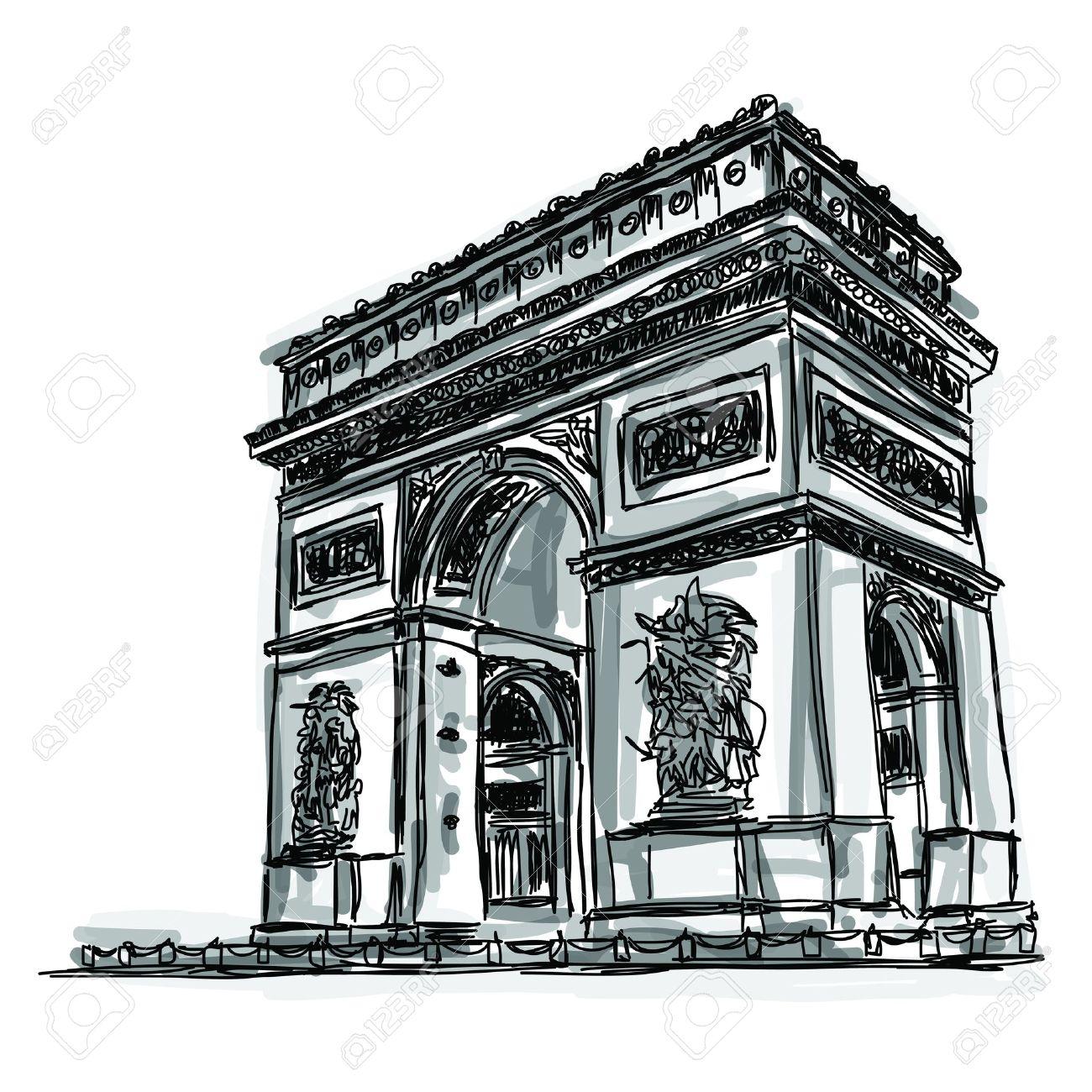 Арка франция рисунок