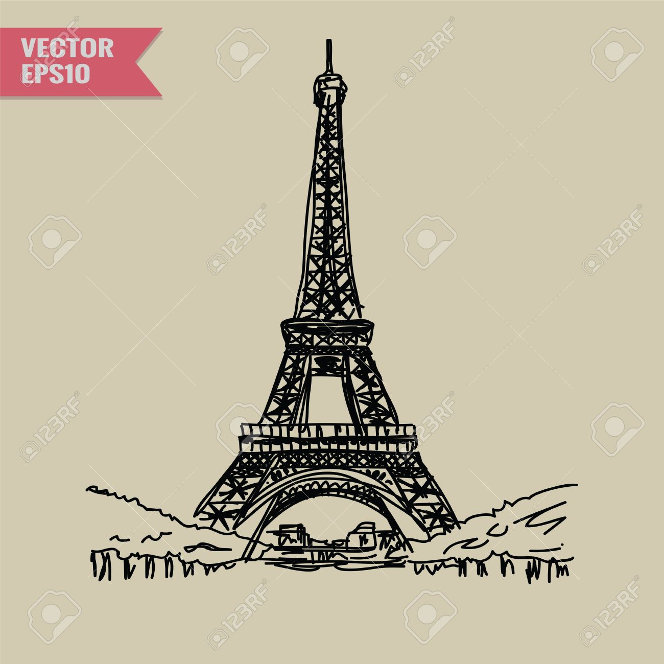 eiffel tower vector background stock photos u0026 pictures royalty