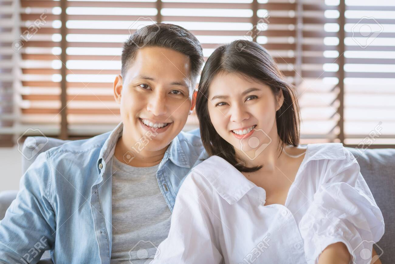 Asian couple lovers enjoy and laugh on vacation make more quality time of happiness together - 144776378
