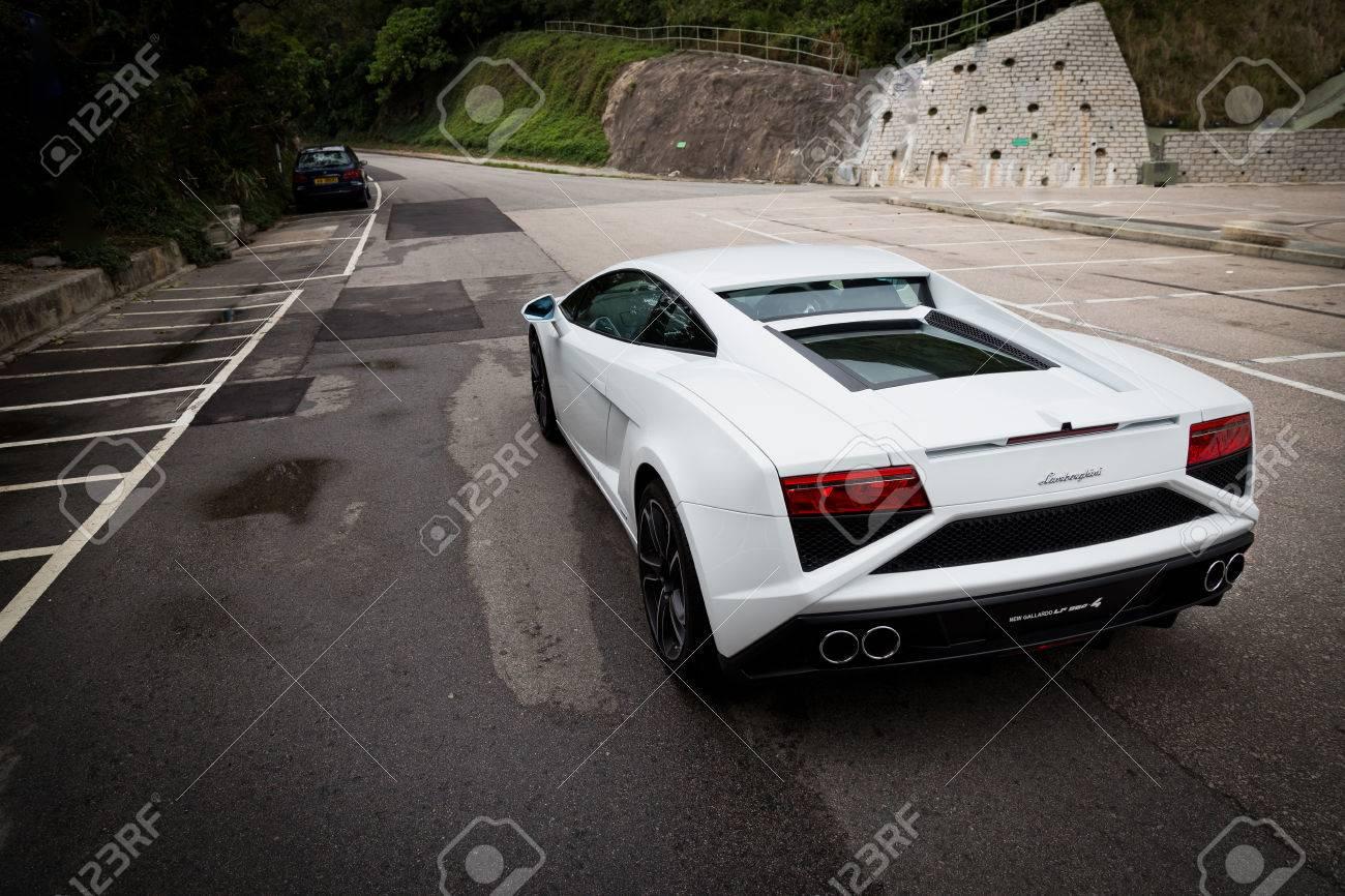 Car colour white - Lamborghini Lp560 4 Super Car In White Colour Stock Photo 26910021
