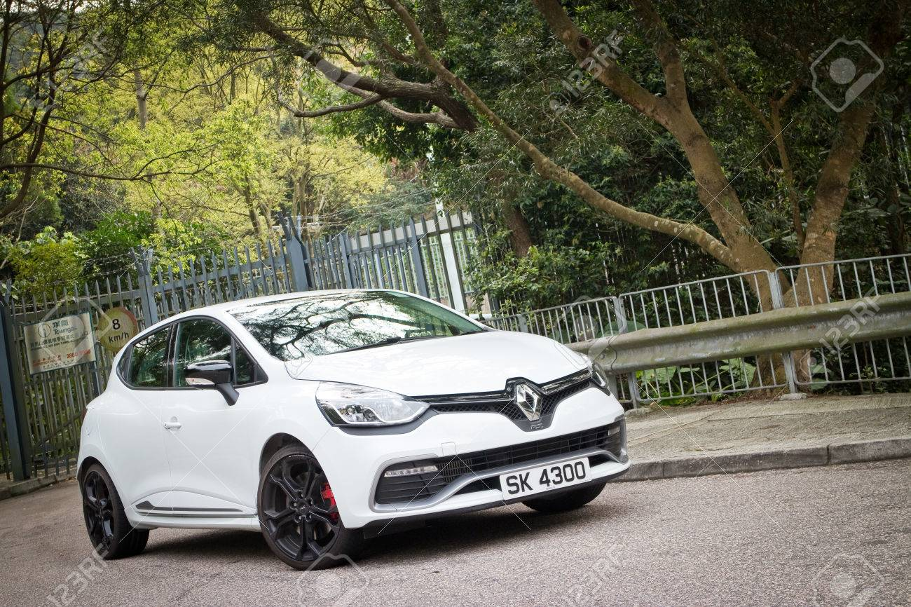 Renault Clio Rs Cup 2014 In White Colour Stock Photo Picture And Royalty Free Image Image 27000618