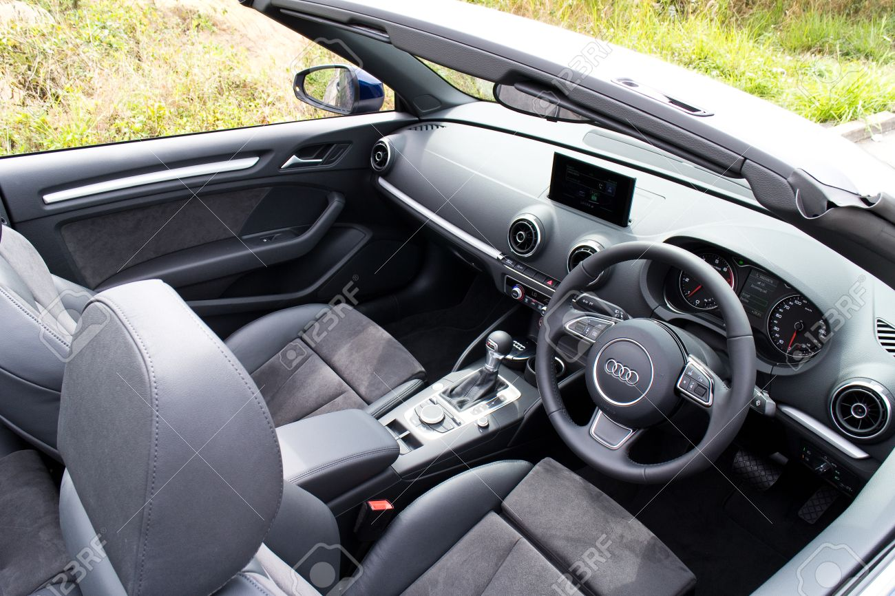 Hong Kong China March 31 2015 Audi A3 Convertible 2015 Interior Stock Photo Picture And Royalty Free Image Image 43425092