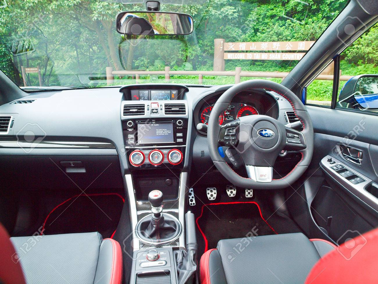 Hong Kong, China Oct 2 2015 : Subaru WRX STI 2015 Interior On Oct 2