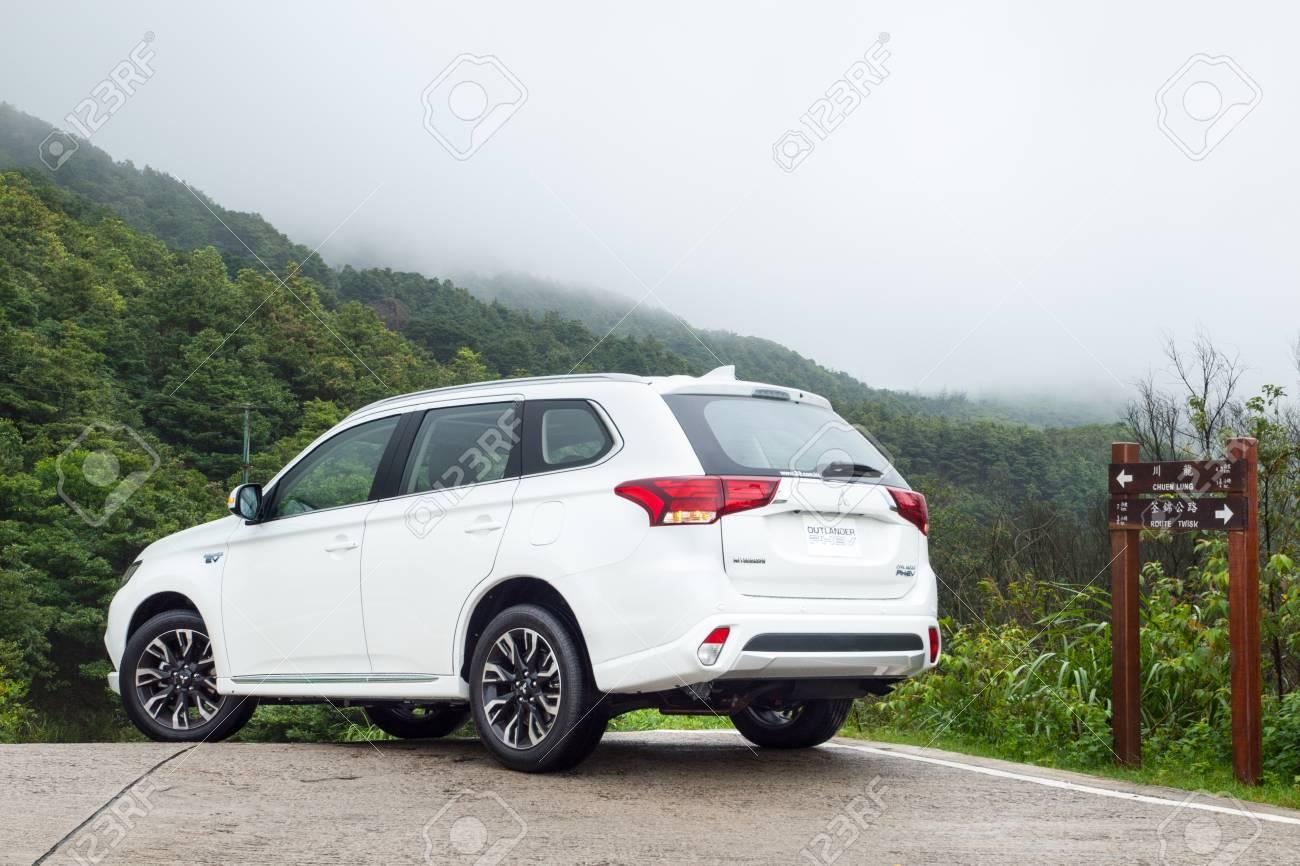 Hong Kong, China June 29, 2016 : Mitsubishi Outlander PHEV 2016