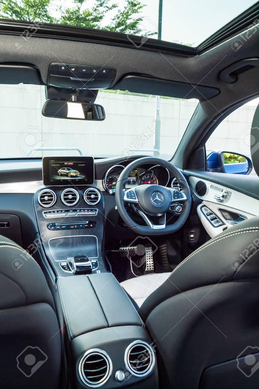 Hong Kong China Nov 14 2016 Mercedes Benz Glc 250 Coupe Interior