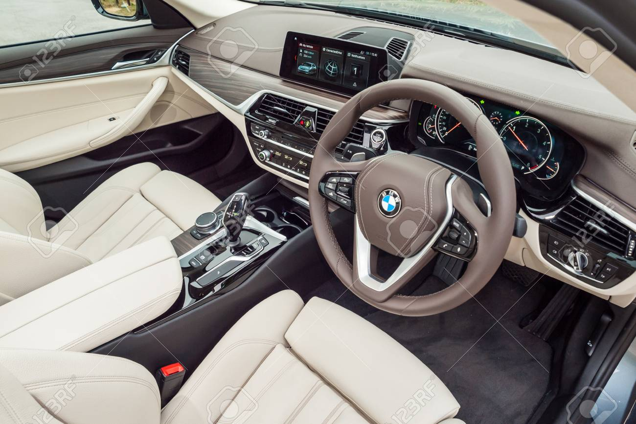 Hong Kong China March 7 2017 Bmw 5 Series 2017 Interior On Stock Photo Picture And Royalty Free Image Image 79048285