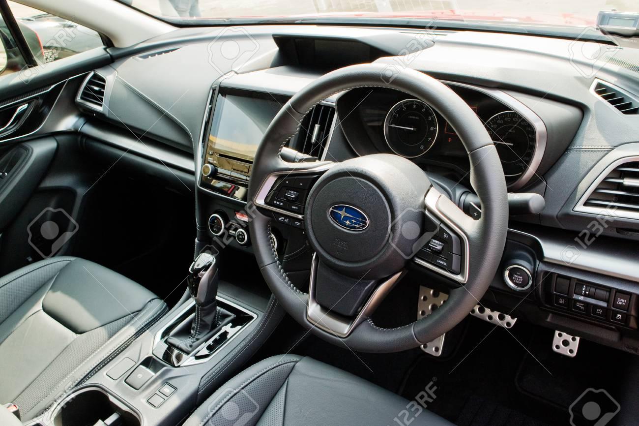 Hong Kong China Jan 13 2017 Subaru Impreza 2017 Interior Stock