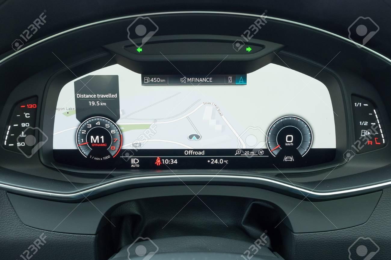 Hong Kong China Oct 31 2018 Audi A6 55 Tfsi 2018 Dashboard