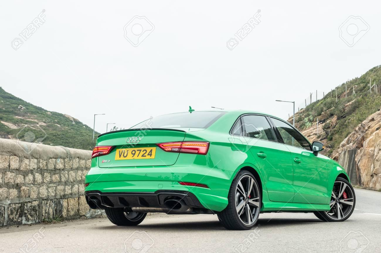 Hong Kong, China Jan 8, 2019 : Audi RS 3 2019 Test Drive Day