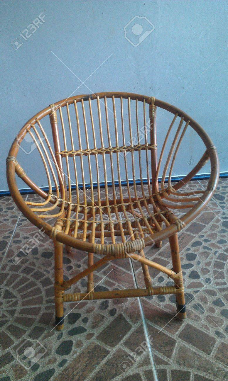 R Bamboo Rattan Chair Stock Photo  24701394