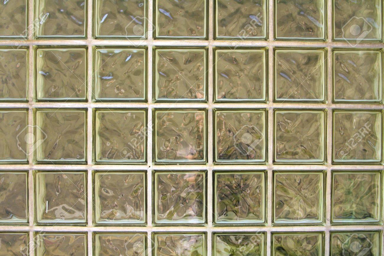 muro de bloques de vidrio foto de archivo