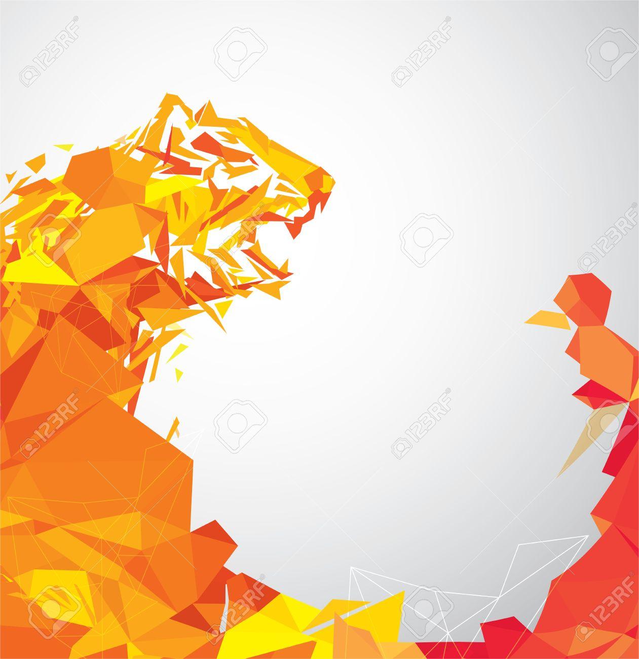 polygon tiger illustration - 59567361