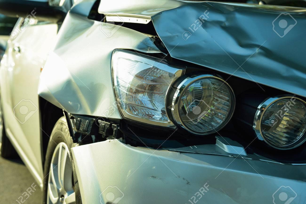 Car accident, part of car crash insurance concept - 36257584