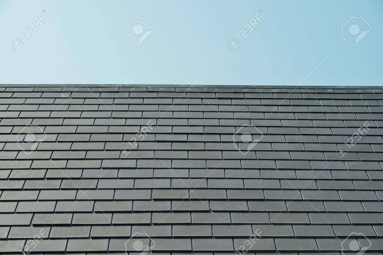 horizontal picture of slates on a roof - 36257606
