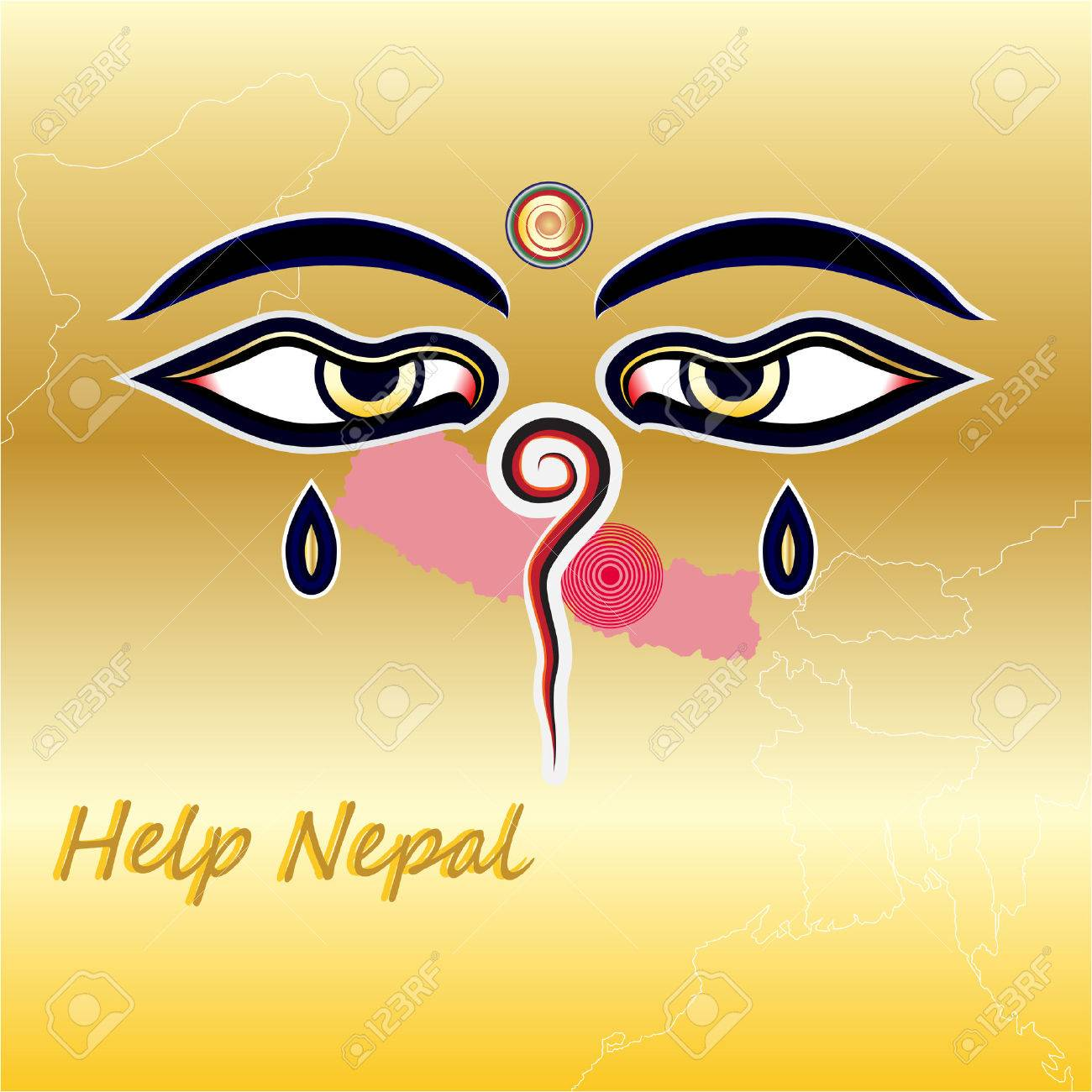 Help nepal with map and Wisdom Eyes