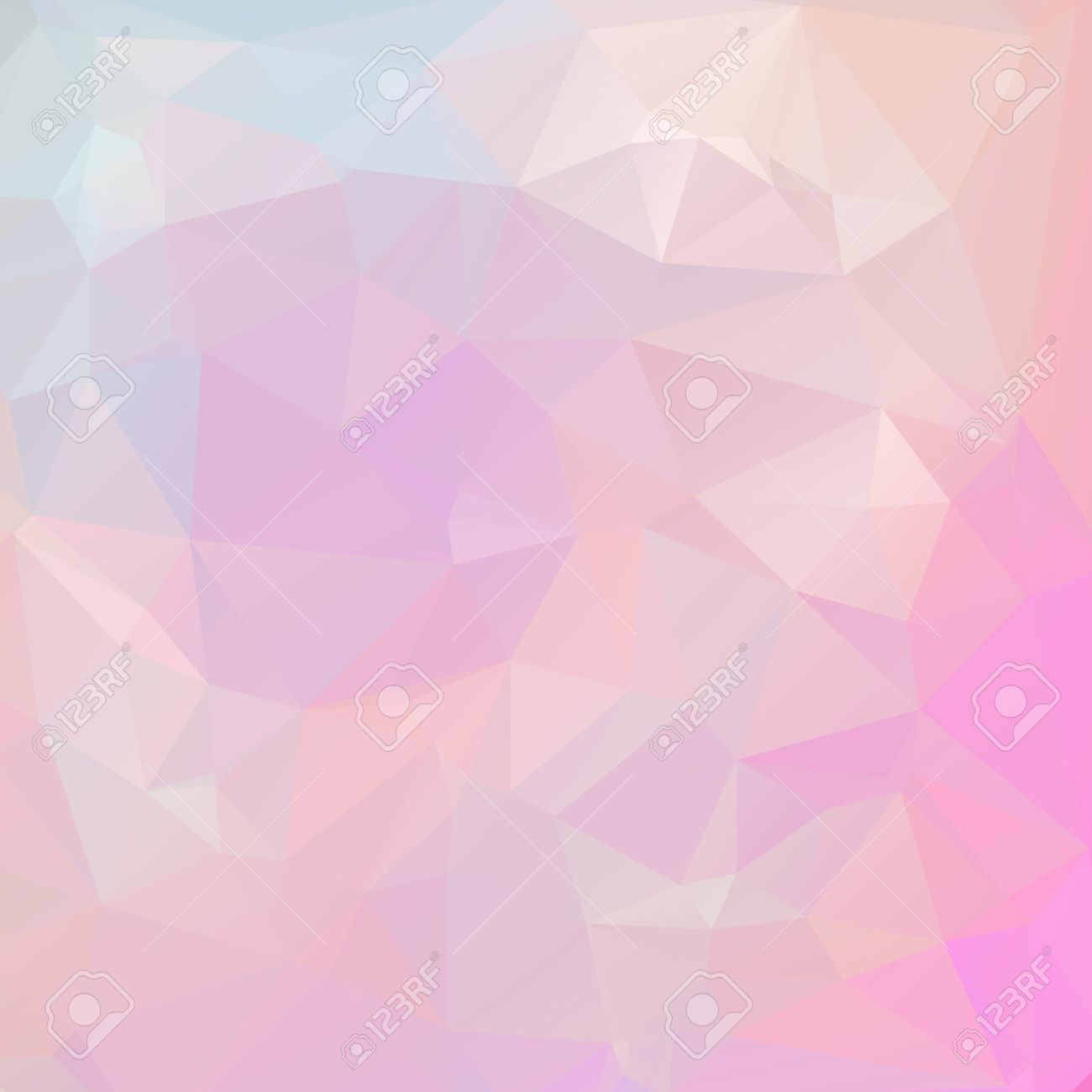Abstract pastel color triangle shape background vector illustration - 40644484