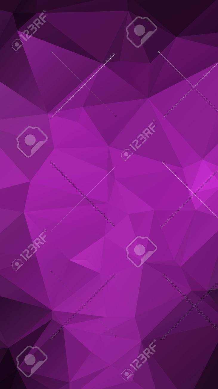 Purple Color geometric rumpled triangular low poly style vector Background for Smart phone - 40644085
