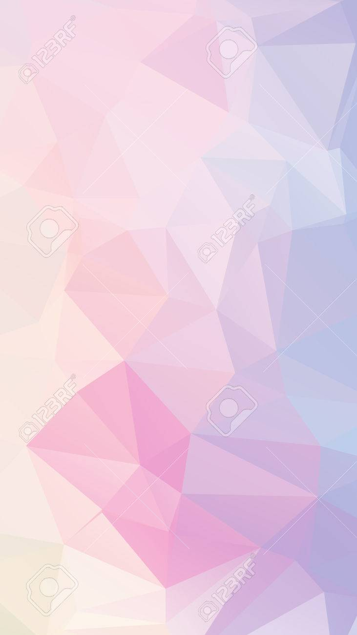 Blue pink light Pastel geometric rumpled triangular low poly style vector Background for Smart phone - 40644104