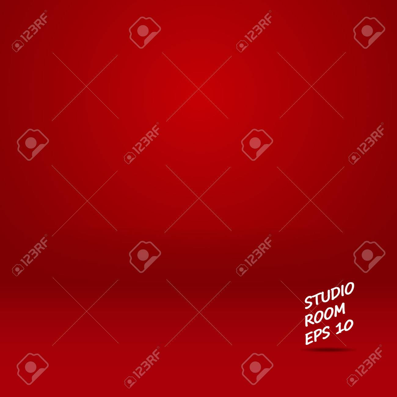 Studio room mock up abstract chinese new year background vector design in red room - 49827944