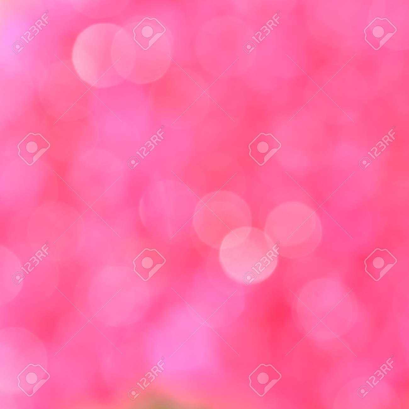 Pink background with bokeh defocused lights - 53243012