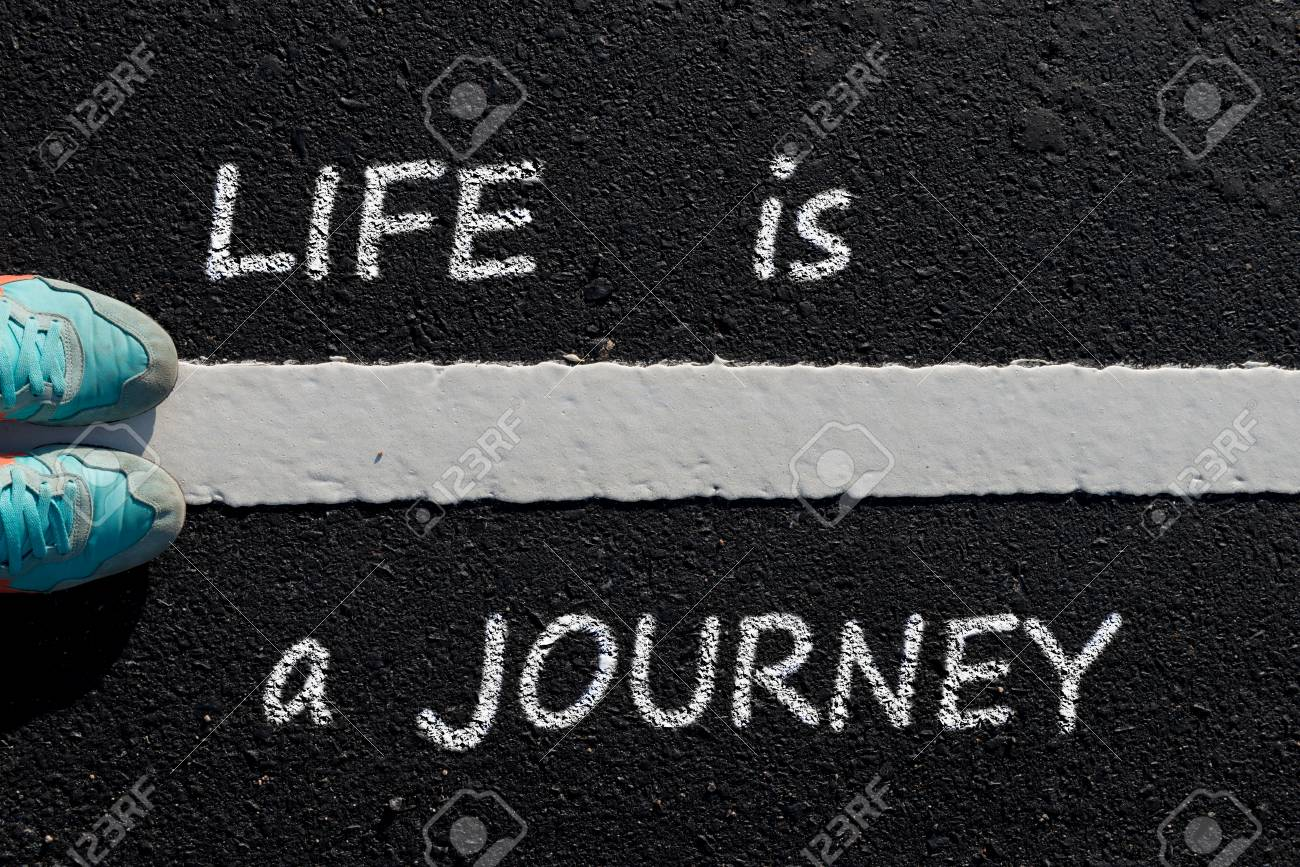 Inspiration Quote Life Is A Journey On Aerial View Of Running
