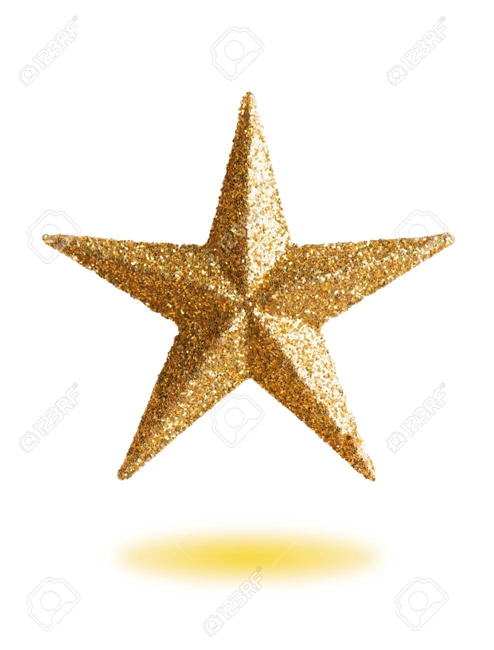 Estrellas De Navidad Para Decorar.Una Estrella Dorada Para Decorar Un Arbol De Navidad