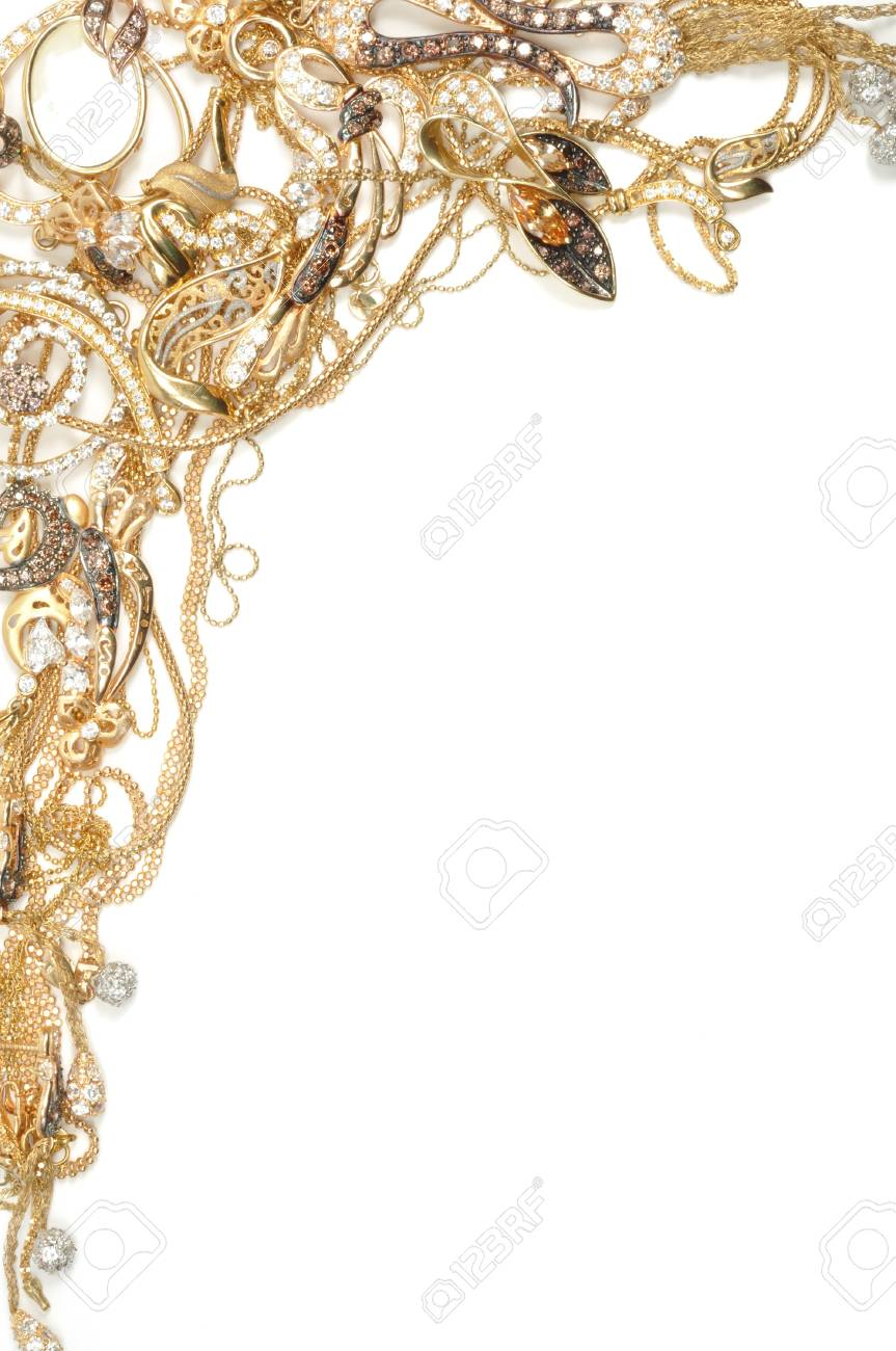 Fashion jewelry framework, isolated on white background Stock Photo - 8610675