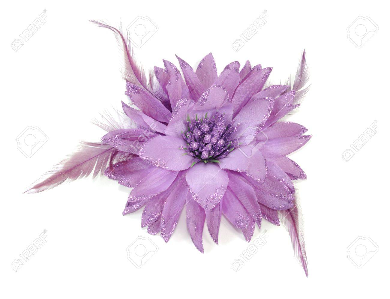 Flower hair band on isolated on a white background Stock Photo - 9740182