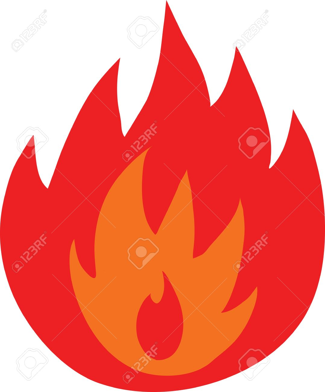 Symbol Of Fire Flames Isolated Royalty Free Cliparts Vectors And
