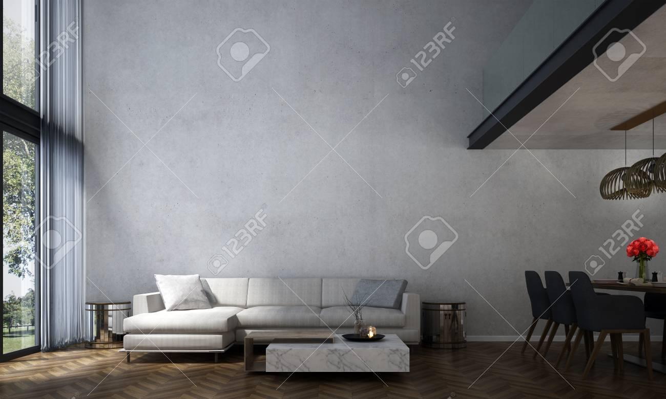 Diseño De Interiores De Salón Moderno Y Sala De Estar Y Comedor ...