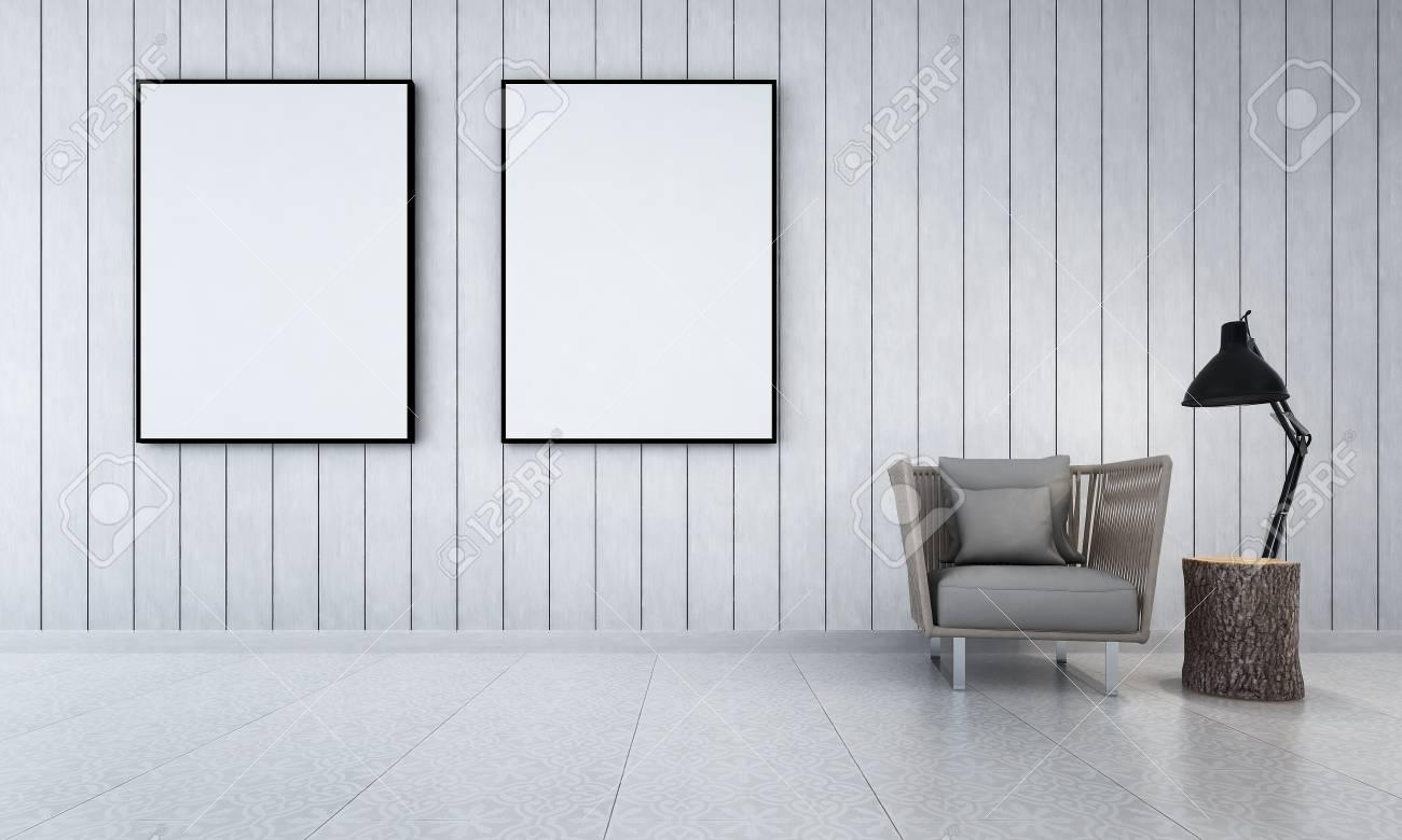 Le design d\'intérieur de salon et l\'idée d\'arrière-plan de modèle de mur en  bois