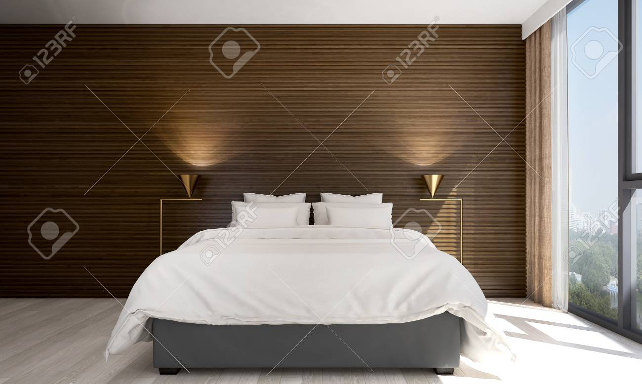 the modern bedroom interior design and wood wall pattern texture rh 123rf com